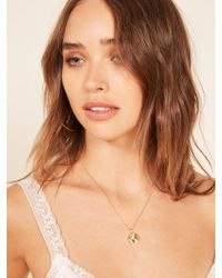 Reformation - Earth Charm Necklace - Lyst