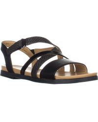 Naturalizer - Kandy Flat Strappy Sandals - Lyst