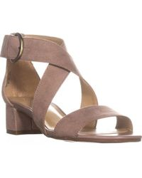 8b1df6005fa Lyst - Clarks Amelia Alice Slingback Wedge Sandals in Natural