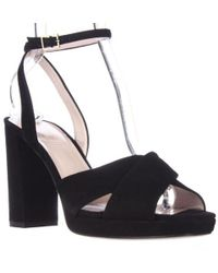 b6ea43f36e5f Kate Spade - Kate Spade Honey Ankle Strap Square Toe Dress Sandals - Black  - Lyst