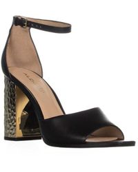 939ac2d5c5f Lyst - ALDO Chelly Platform Ankle Strap Strappy Sandals in Black