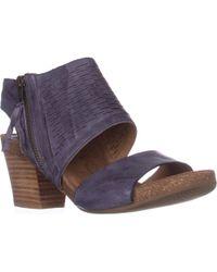 Söfft - Milan Block Heel Zip Sandals - Lyst
