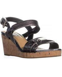 COACH - Hinna Wedge Ankle Buckle Platform Sandals - Lyst