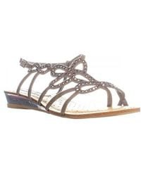 Naughty Monkey - Eclipse Studded Flat Strappy Sandals - Lyst