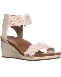 Lucky Brand - Kierlo Ankle Strap Wedge Sandals - Lyst