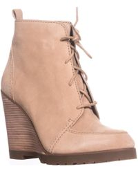 Michael Kors - Michael Piper Lace Wedge Ankle Boots - Lyst