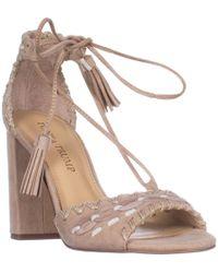625c5046e7a Ivanka Trump - Karita Block Heel Lace Up Sandals - Lyst