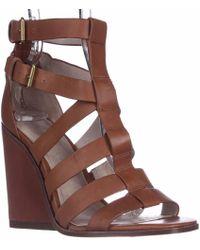 Pour La Victoire - Cecile Strappy Wedge Sandals - Cigar - Lyst