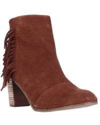 TOMS - Lunata Fringed Suede Boots - Lyst