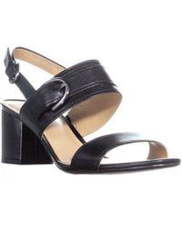 b2c61440478b Naturalizer - Camden Ankle Strap Block Heel Sandals - Lyst