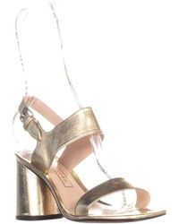 cc800363087 Lyst - Marc Jacobs Emilie Sandals in Metallic