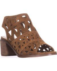 Steve Madden - Estee Perforated Slingback Sandals, Cognac - Lyst