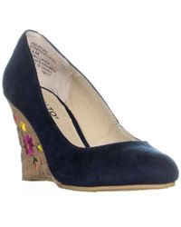 Rialto - Calypso Wedge Floral Court Shoes - Lyst