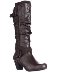 Rialto - Crystal Knee High Slouch Boots - Lyst