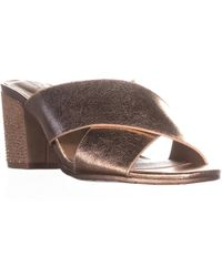 Kenneth Cole - Reaction Mass Away Heeled Slide Sandals - Lyst