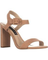 8ab9d2b46b2 Lyst - Steve Madden Rizzaa Lace Up Ankle Strap Sandals in Brown