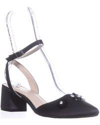 Rialto - Marjorie Embellished Block-heel Court Shoes, Black - Lyst