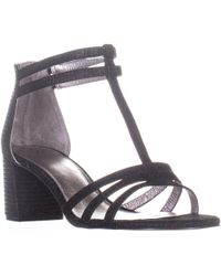 Adrianna Papell - Anella Low-heel T-strap Dress Sandals - Lyst