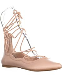 Madden Girl - Edgyy Pointed Toe Gladiator Flats, Nude - Lyst