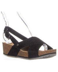BEARPAW - Renee Slingback Platform Sandals - Lyst