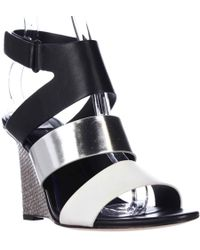 Tahari - Elie Palma Wedge Strap Sandals - Lyst