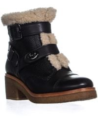 7777cd0b6af9 COACH - Urban Hiker Wedge Laceless Ankle Boots - Lyst