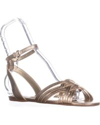 469e9461d07 COACH - Summers Ankle Strap Slide Sandals - Lyst