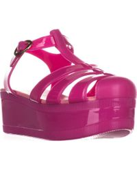 Wanted - Jellypop Platform Jelly Sandals - Lyst