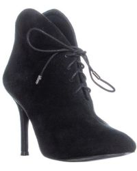 Vince Camuto - Cailyn Lace Up Ankle Booties, Black Suede - Lyst
