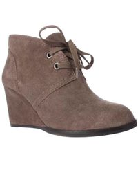Lucky Brand - Seleste Lace Up Wedge Booties - Lyst