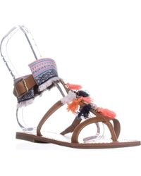 Betsey Johnson - Low-heel T-strap Sandals - Lyst