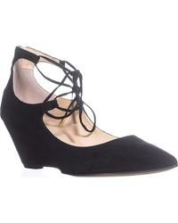 Ivanka Trump - Winogrand Wedge Lace Up Pointed Toe Pumps - Lyst