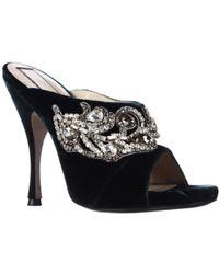 568a2306d5db N°21 - Nadine Jeweled Velour Peep Toe Mule Dress Pumps - Lyst