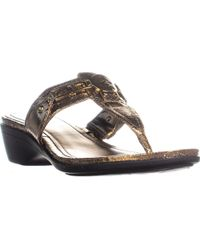 Marc Fisher - Amina3 Thong Wedge Flip Flops - Lyst