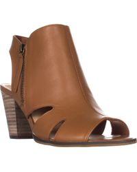 Bella Vita - Kimmy Peep Toe Heeled Zip Cut Out Sandals - Lyst