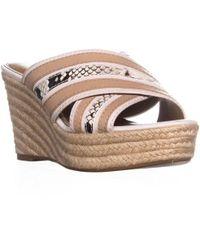 COACH - Florentine Slip-on Wedge Sandals - Lyst
