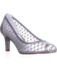 Adrianna Papell - Jamie Peep Toe Mesh Caged Court Shoes - Lyst