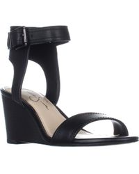 Jessica Simpson - Cristabel Ankle Strap Wedge Sandals - Lyst
