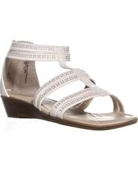 80a8b66f791e Rialto - Greer Perforated Gladiator Sandals - Lyst