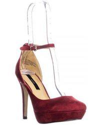 Kensie - Nicky Platform Ankle Strap Heels - Lyst