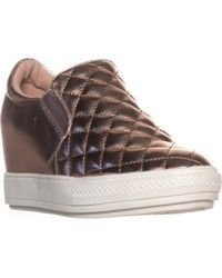 Wanted - Bushkill Quilted Wedge Fashion Trainers - Lyst