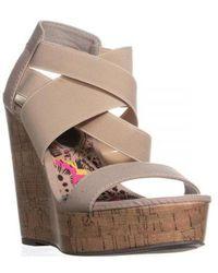 Madden Girl - Eastt Slip On Strappy Wedge Sandals - Lyst