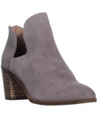 Lucky Brand - Powe Open Side Block Heel Ankle Boots - Lyst