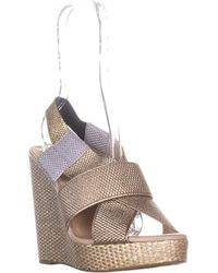 4bf72accb6f2 Lucky Brand - Rishi Slingback Wedge Sandals - Lyst