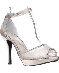 Caparros - Wynn Platform Peep Toe Rhinestone Ankle Strap Dress Sandals - Lyst
