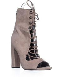 Kendall + Kylie - Kendall Kylie Ella Lace Up Booties - Lyst