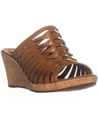 Rockport - Briah Perfed Slingback Wedge Sandals - Lyst