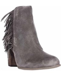 Vince Camuto - Hayzee Fringe Ankle Boots - Lyst