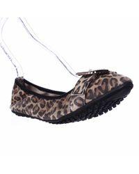 Bella Vita - Twirl Buckle Toe Ballet Flats - Leopard Print - Lyst