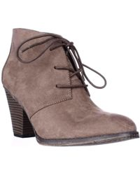 MIA - Shawna Lace Up Ankle Booties - Lyst